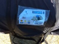 kansas 8 berth family tunnel tent and extras