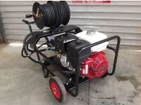 Honda 13hp Pressure washer with Reel 100 feet , free Whirlaway cleaner & Turbo nozzle