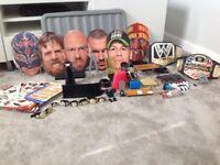 WWE Wrestling accessories tattoos masks belts