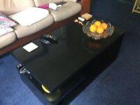 Large Black hi-shine coffee table