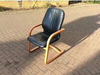 Danish RoseWood Leather Office Chair