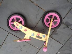 Children's wooden balance bike