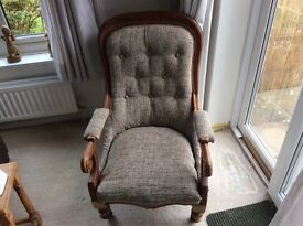 Victorian style library chair