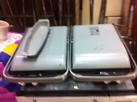 DOUBLE George Foreman FAT Reducing Grill panni - tosty machine