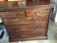 Edwardian mahogany chest
