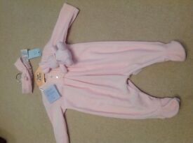 Emile et Rose pink 0-3 months romper suit babygrow new with tags