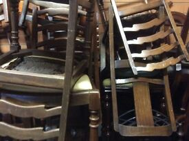 Job lot of 20. Vintage dining chairs