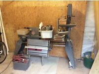 Shopsmith woodworking lathe, multi function workshop tool