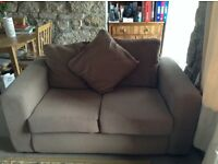 2 x two-seater fabric sofas for immediate sale, excellent condition