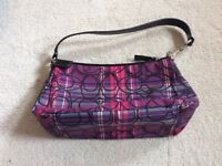 Coach handbag/ evening bag purple, pink and black