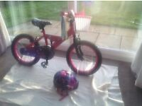 girls pink bike very good condition hardly used 2 mins J25 of M62 suit 5-7 year old 16""