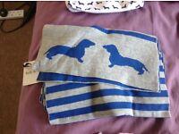 Blue and Grey Dog Print ladies Scarf