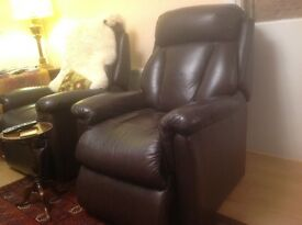 Leather-Look reclining armchairsby Lazy-Boys