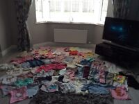 Large bundle of girls 12-18 month clothes mostly next