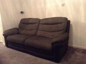 4 seater sofa, armchair & storage footstool