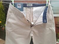 TU slim leg cream classic casual trousers