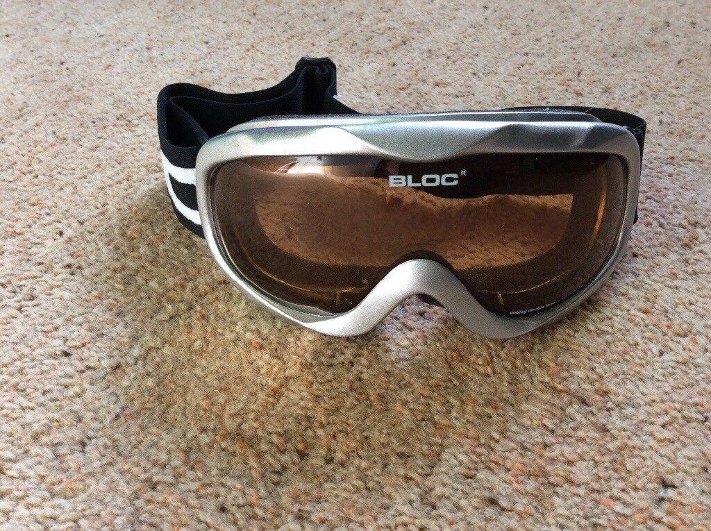 e69ff38c485 Bloc silver ski goggles