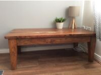 Stylish hardwood coffee table