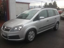 VAUXHALL ZAFIRA 1.6 55 plate 87000 miles 7 seater family car MOT ONE YEAR