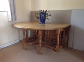 large pine dinning table