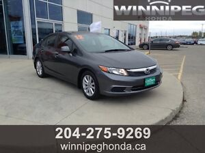 2012 Honda Civic EX, One Owner, Local Trade, Low KM