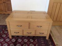 Solid oak storage unit