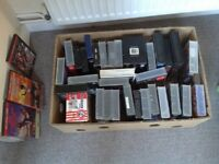 Bulk Lot VHS Music/Comedy/Horror etc +Martial arts DVDs