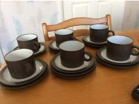 Hornsea Pottery Pallatine cup, saucers & plates