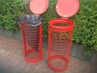 2 rubbish bins