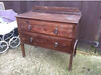 wooden vintage chests of drawers