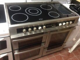 Leisure ceramic cooker range 100 cm wide nearly new