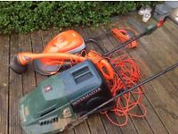2 lawnmowers and strummer for sale