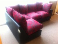 BRAND NEW!!! New line,harry leather corner sofa settee v comfortable cushions modern design