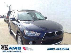 2013 MITSUBISHI OUTLANDER 4WD 4DR XLS; Leather Interior, Navigat