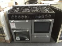 Leisure cooker master 100cm duel fuel range. Black & grey. £599. New/graded 12 month Gtee