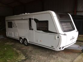 Hymer Eriba 2016 twin axle touring caravan and all equipment.