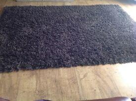 Brown shaggy rug 160 x 230