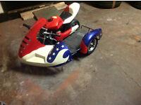 Mini Moto 50cc-80£ And Mini Moto Sidecar 50cc-120£