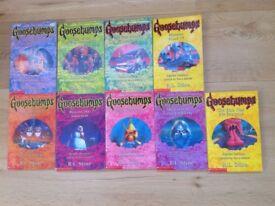 9 x Goosebumps Books by R.L. Stine