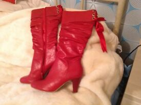 12 pairs of ladies shoes. 3pairs ankle boots, 1 pair Knee high boots.