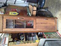 Small wood corner unit