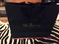 Large mulberry carrier bag with measurement