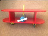 Children's aeroplane wall shelf