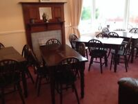 BUSINESS CLOSURE JOB LOT QUALITY TABLE AND CHAIRS -£95 per set --CAN DELIVER