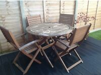 Homebase Wooden Garden Furniture Table and Chairs