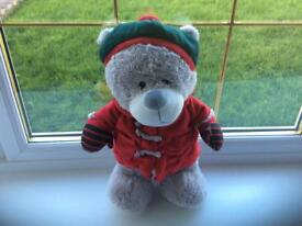 Soft and cuddly ready for winter teddy bear