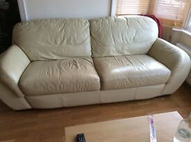 3seats leather sofa