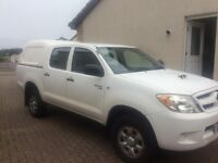 For sale Toyota hilux white ,diesel ,2008 mileage 79.500 manual 11 mounths mot good condition