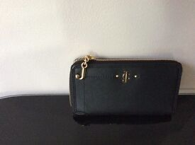 JUICY COUTURE BLACK LEATHER DESERT SPRINGS PURSE