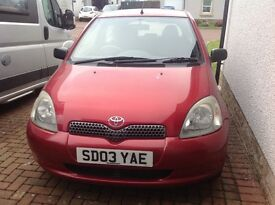 Toyota Yaris 2003 , 60,000 , 1 year Mot